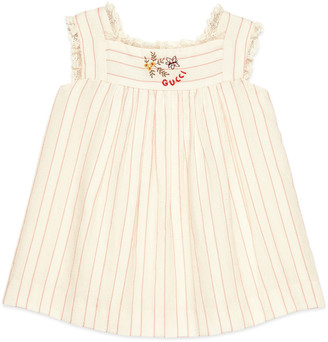 Gucci Baby Square G openwork dress