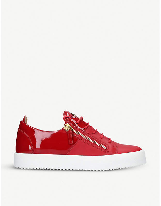 Giuseppe Zanotti Patent-leather low-top trainers