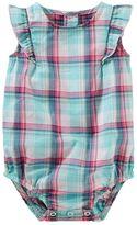 Osh Kosh Baby Girl Plaid Ruffle Bodysuit