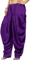 Maple Clothing Womens Baggy Pants Harem Patiala Cotton Indian Clothing (Purple