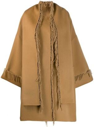 P.A.R.O.S.H. Tassel Cape Coat