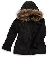 Urban Republic Girls 2-6x Faux Fur Accented Jacket