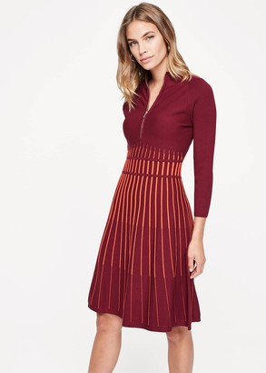 Phase Eight Adela Striped Knitted Tunic Dress