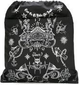 Givenchy tattoo print drawstring backpack - men - Acrylic/Polyamide - One Size