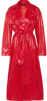 Ellery Le Strange Rubberized Trench Coat - Red