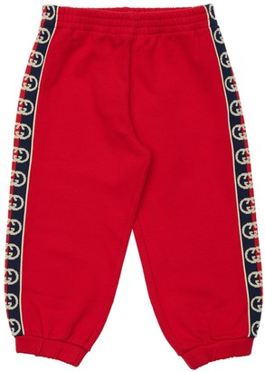Gucci Cotton Sweatpants W/ Logo Bands