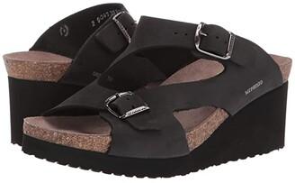 Mephisto Terie (Black Nubuck) Women's Wedge Shoes
