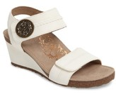 Aetrex Women's 'Arielle' Leather Wedge Sandal