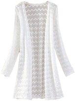 Luckystaryuan Lucky staryuan ® Women's Long Sleeve Lace Crochet Knitted Cardigan