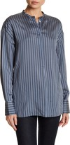Vince Striped Silk Tunic