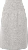 Joseph Boiled Wool Skirt - Light gray