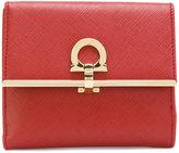 Salvatore Ferragamo Gancio French flap wallet - women - Calf Leather - One Size