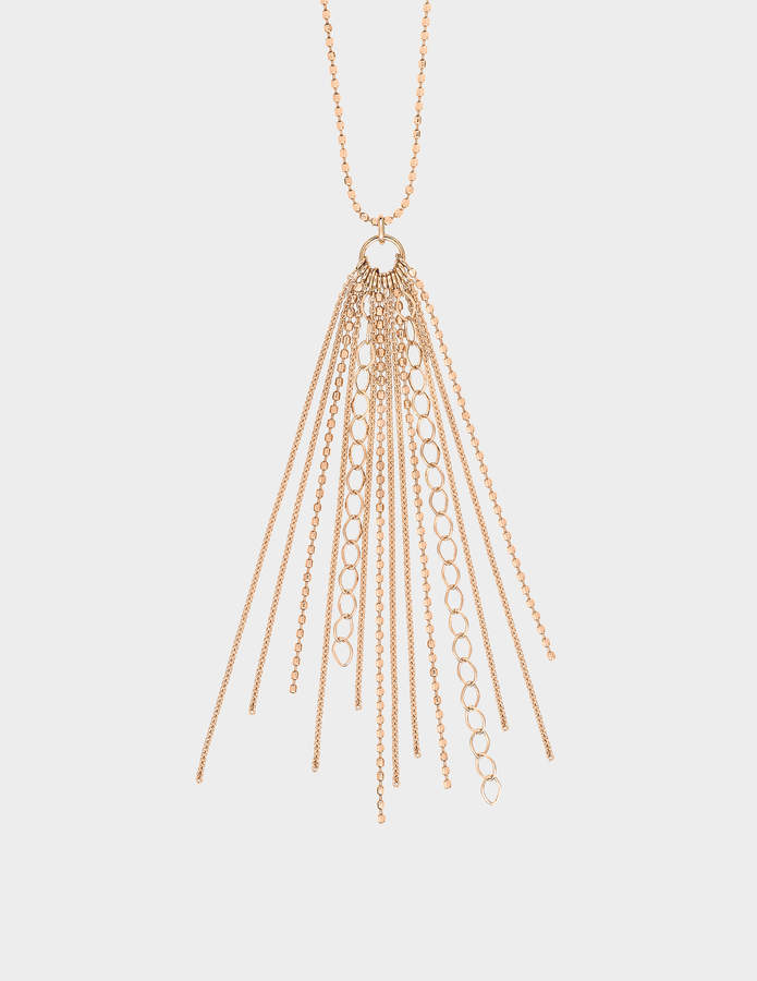 ginette_ny Long Unchained 18-karat rose gold necklace