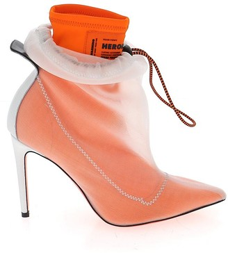 Heron Preston Heeled Drawstring Ankle Boots