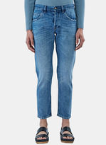Gucci Men's Washed Slim Leg Jeans In Blue