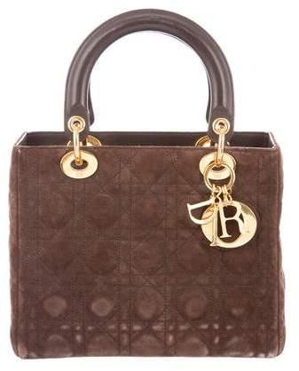Christian Dior Suede Medium Lady Bag