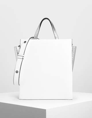 Charles & Keith Double Handle Chain Link Tote Bag
