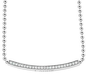 Lagos Sterling Silver Caviar Spark Diamond Bar & Ball Chain Necklace, 16