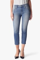 7 For All Mankind The High Waisted Ankle Straight In Windsor Pink Tint