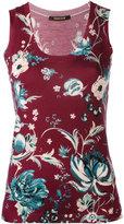 Roberto Cavalli floral print tank top - women - Wool/Cashmere/Silk - 42