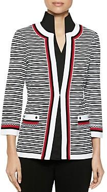 Misook Striped Knit Jacket