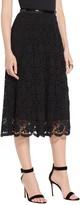 St. John 3D Floral Lace Skirt