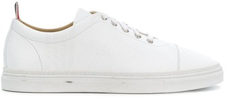 Thom Browne 4-Bar Emboss Pebbled Leather Trainer