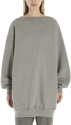 Balenciaga Oversized Logo Scoop Back Sweater