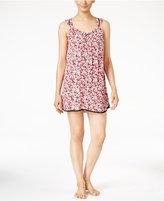 Oscar de la Renta Floral-Print Knit Chemise