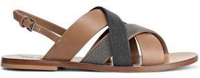 Brunello Cucinelli Beaded Leather Sandals