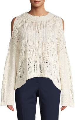 Free People Knit Cotton Blend Sweater