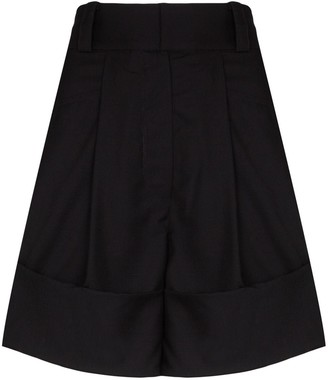 Low Classic Fold-Over Wool Shorts