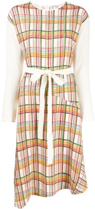 Loewe Checked Belted Dress