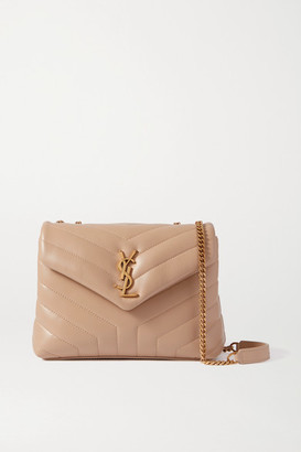 Saint Laurent Loulou Small Quilted Leather Shoulder Bag - Beige