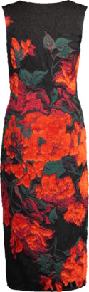 Oscar de la Renta Floral Print Cocktail Dress