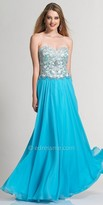 Dave and Johnny Dazzling Jeweled Bodice Prom Dress