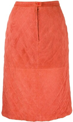 Valentino Pre Owned 1980's Diamond Quilted Skirt