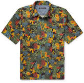 Fabric-Brand & Co - Camp-Collar Floral-Print Woven Cotton Shirt