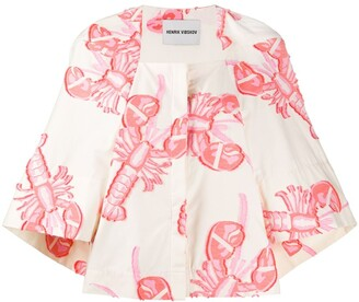 Henrik Vibskov Lobster Print Boxy Fit Shirt