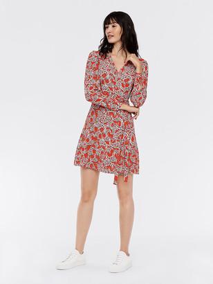 Diane von Furstenberg Saville Crepe Mini Wrap Dress