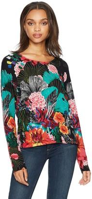 Desigual Women's Hawai Woman Flat Knitted Thin Gauge Pullover