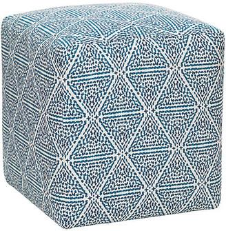 Imagine Home Miquel Ottoman - Blue/White