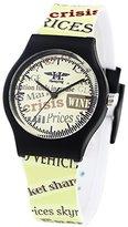 Hansying Retro Nostalgic Newspaper Creative Design Kids and Women Men Wrist Waterproof Quartz Watch