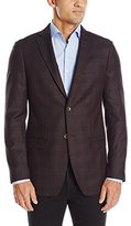 DKNY Men's Donahue Single Breasted Notch Lapel Plaid Slim Fit Blazer