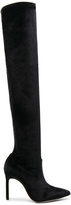 Manolo Blahnik x Jonathan Simkhai Velvet Pascalarehi Boots in Black.