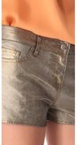 Haute Hippie Metallic Coated Shorts