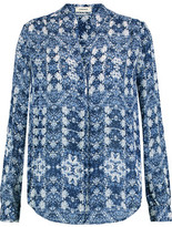 L'Agence Bianca Printed Silk Blouse