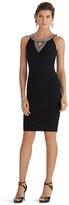 White House Black Market Sleeveless Embellished Neckline Instantly Slimming Dress