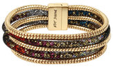 Betsey Johnson Confetti Multi Stone Tube Magnetic Bracelet