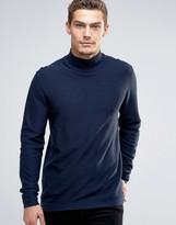 Esprit Turtleneck Sweater with Open Hem